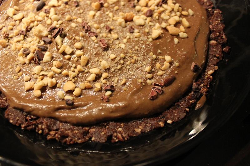 suolapähkinäinen suklaapiirakka